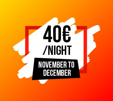 Promotion hotel - November to December 40 euros